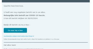 Opgelet voor phishingmails vaccinatiepaspoort!