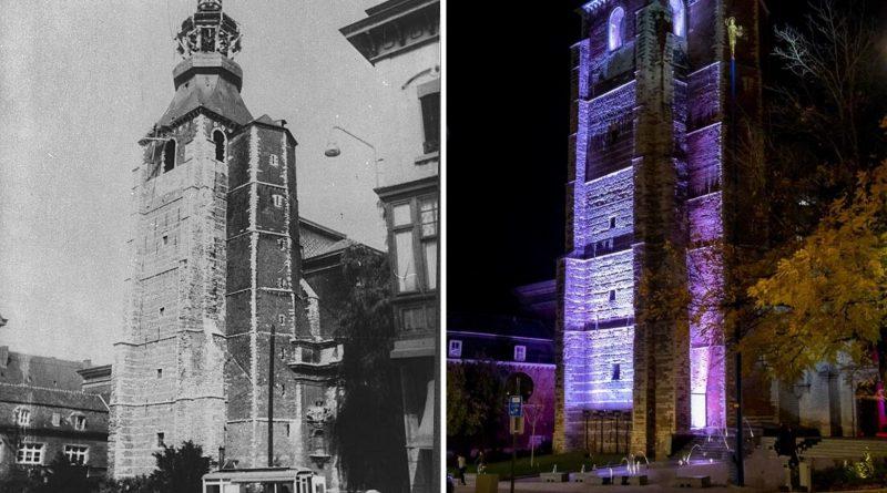 Abdijtoren vroeger en nu